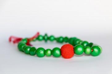 rdeče- zelena ogrlica