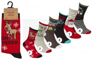 ženske tople božične nogavice