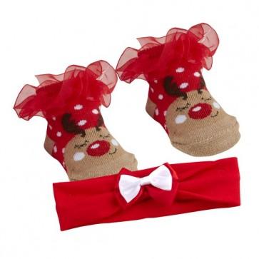 nogavičke, jelenček Rudolf + naglavni trak