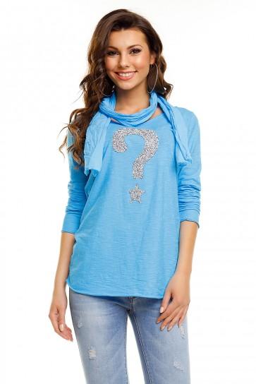 Majička H & W, modra