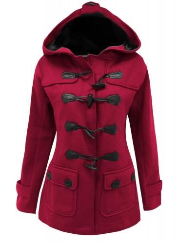 zimska jakna na preklop s kapuco