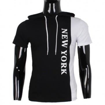 majica, kratek rokav, kapuca