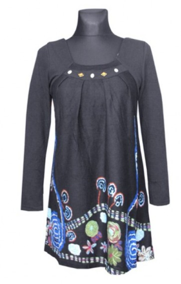 tunika z modnim vzorcem