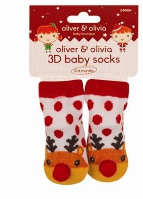 3D otroške nogavičke, jelenček