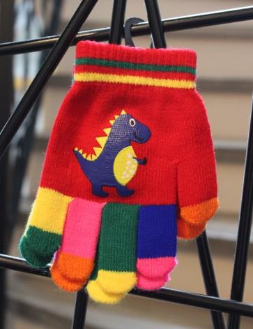 otroške rokavičke- dinozaver