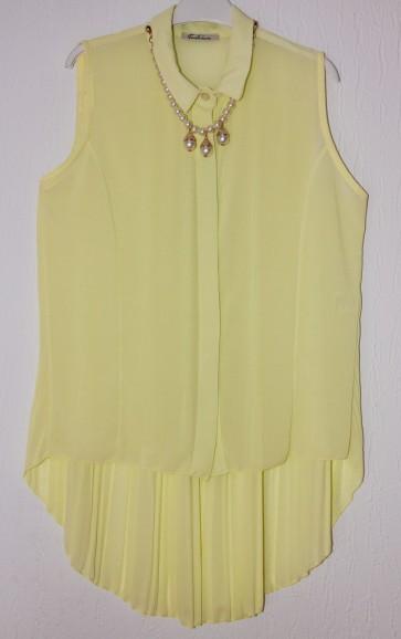 bluza brez rokavov- rumena, univerzalna številka