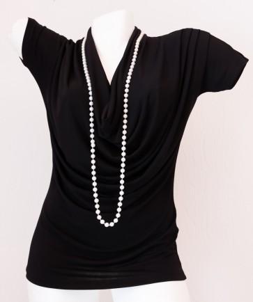 bluza, kratek rokav- črna, univerzalna številka