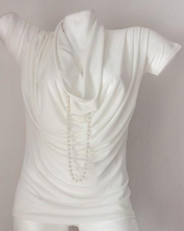 bluza kratek rokav- bela, univerzalna številka