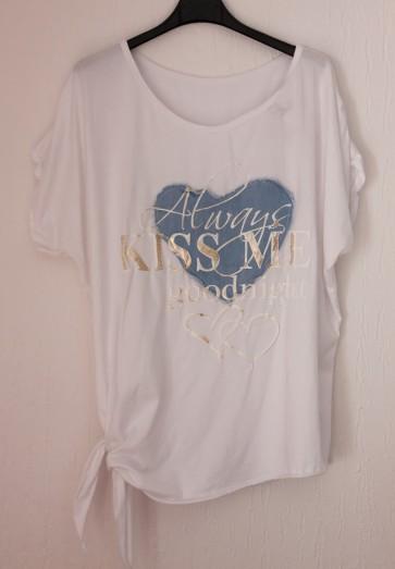 """majica, kratek rokav, """"kiss me"""""""