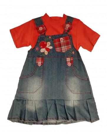oblekica za deklice z majčko