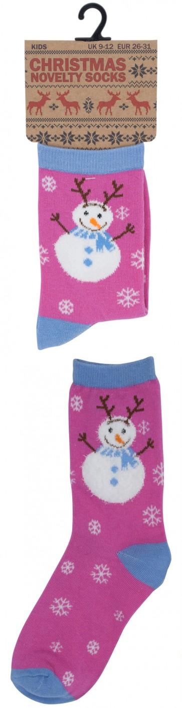 otroške Božične nogavičke- roza