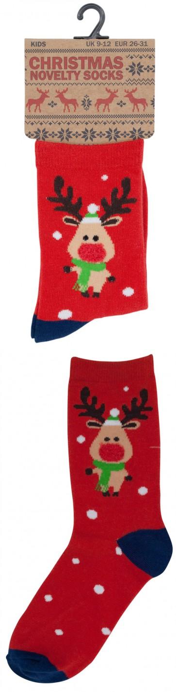 otroške Božične nogavičke- rdeče