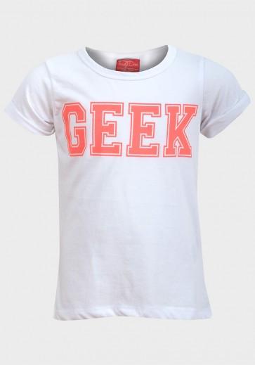T-shirt za deklice, »Funky diva«, bela