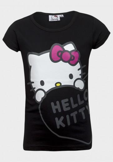 T-shirt Hello Kitty, črna