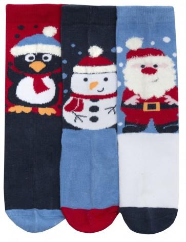 otroške Božične nogavičke- modre