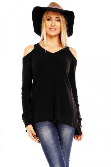 pulover Bisous- črn