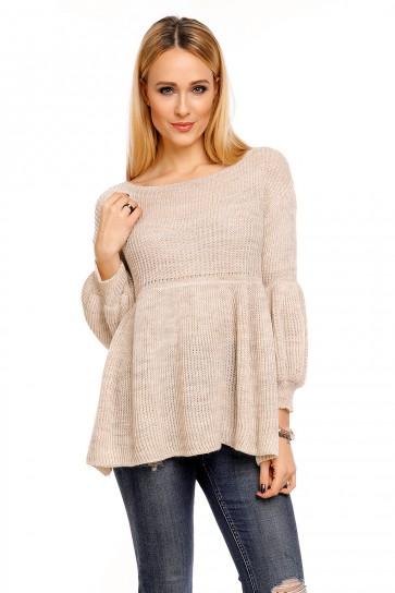 pulover Miss eleven- bež