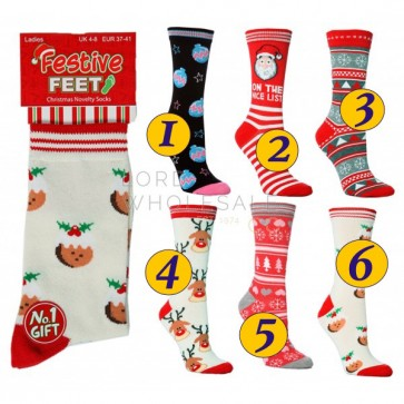 ženske nogavice - božične 2/1