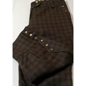 hlače Kara, rjave