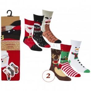 moške nogavice- božične 3/1