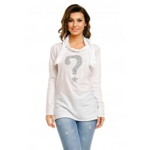 Majička H & W, bela
