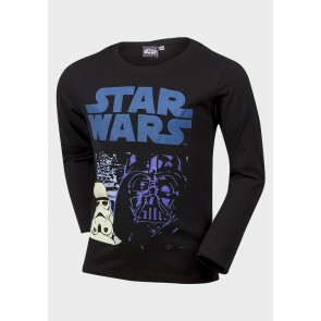 T-shirt Star wars, črna
