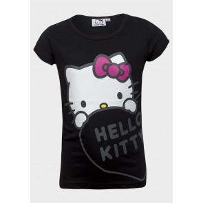 T-shirt Hello Kitty, črna