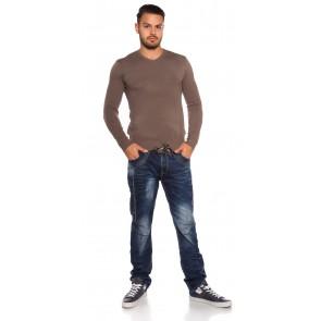 moški pulover, kapučino