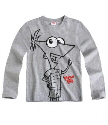 Majčka za dečke, dolg rokav-Phineas in Ferb